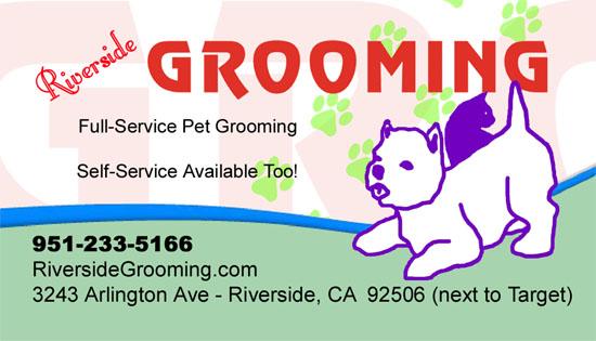 Business Card Riverside Grooming
