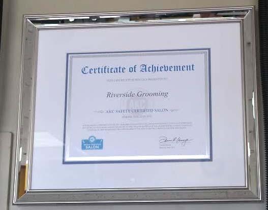 akc certified certificate